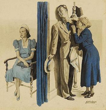 Getting Ready For A Date by Edmund Franklin Ward