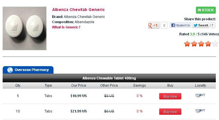 Buy Albendazole in USA