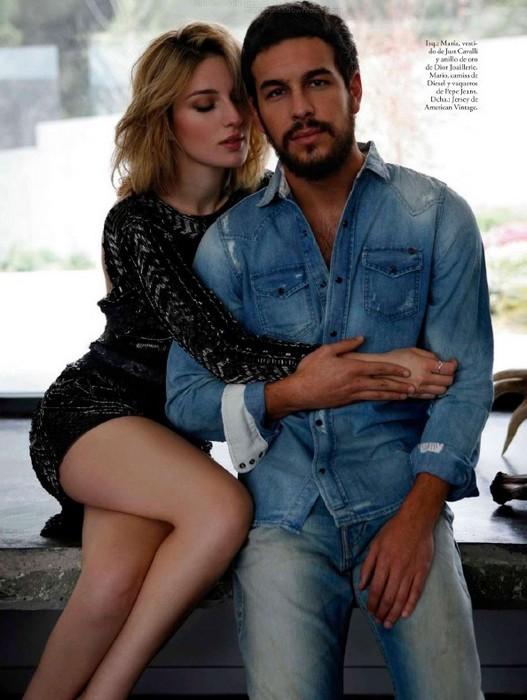 Maria Valverde couple