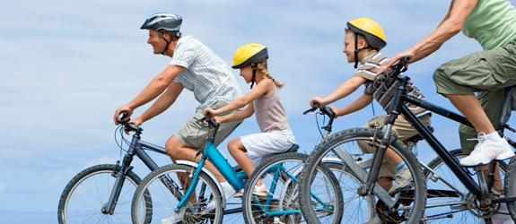 Лето – время кататься на велосипеде