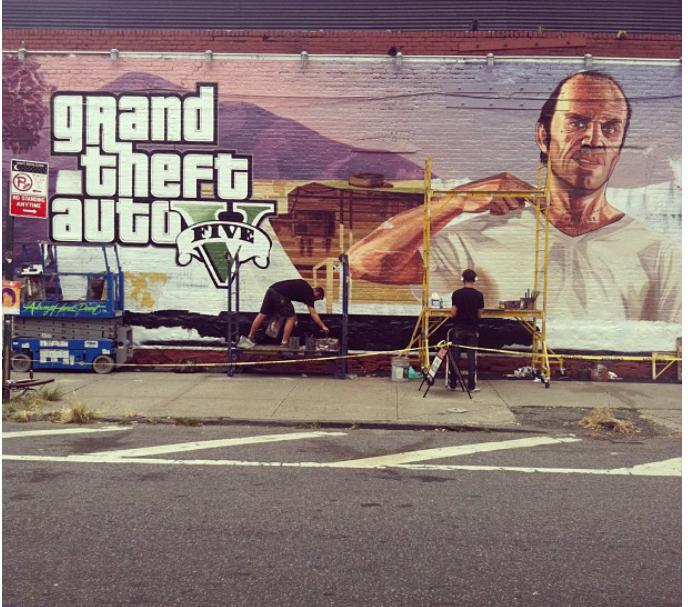 Новые рекламные граффити Grand Theft Auto V | игры Grand Theft Auto V