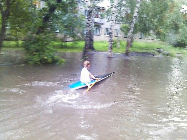 на лодке после дождя
