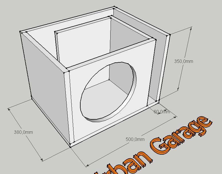 Как сделать короб под сабвуфер схема 70