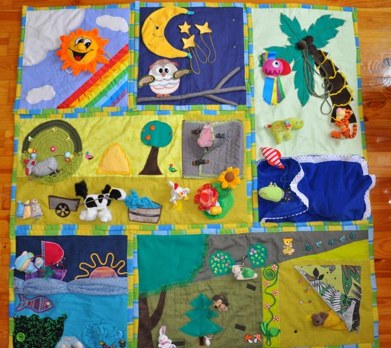 Выкройка развивающий коврик для детей своими руками 70