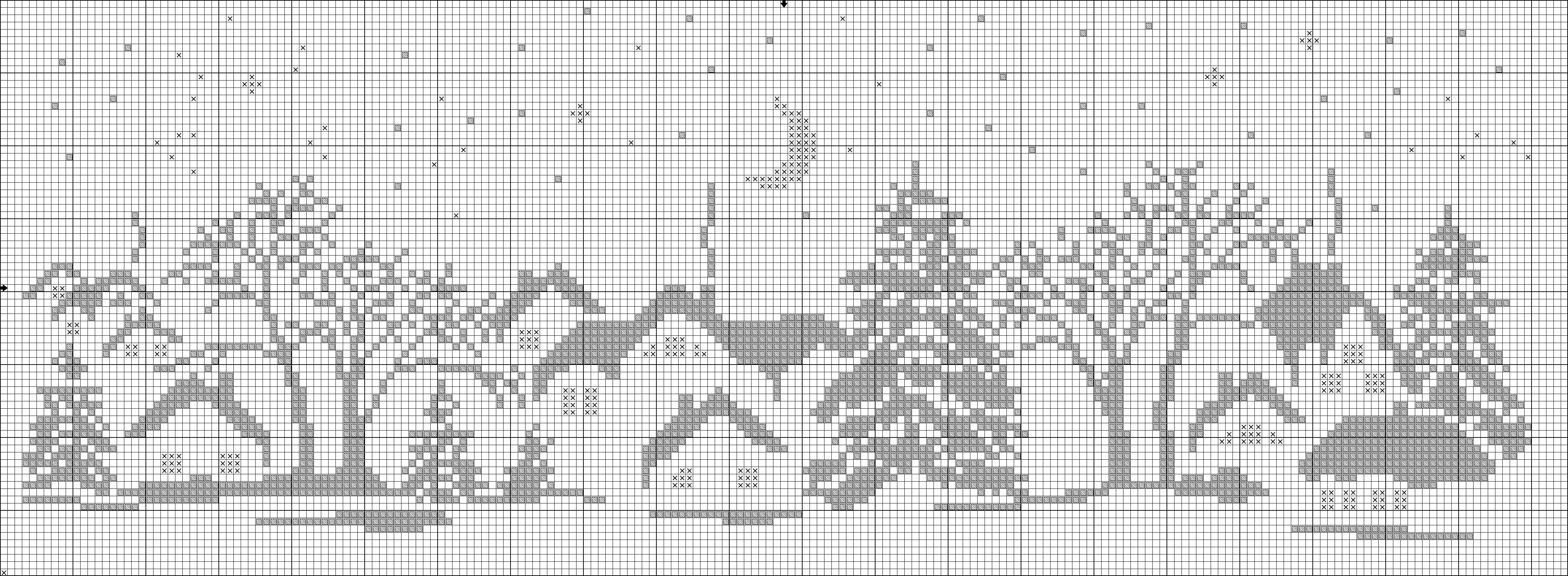 Пейзаж схема для вязания спицами