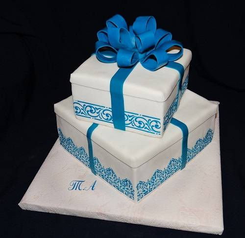 Торт коробка из мастики фото