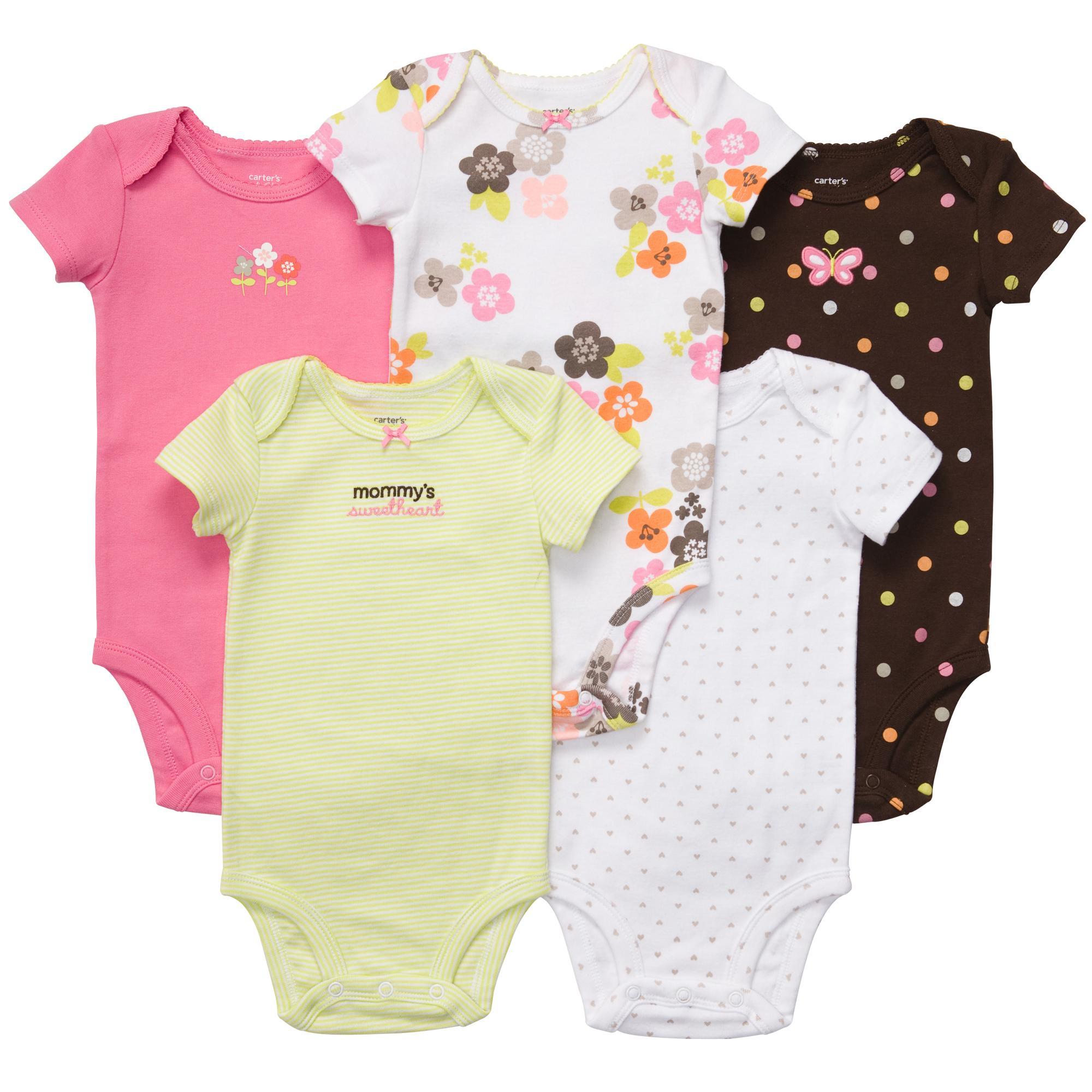 Carters замечательные наборы бодиков для девочек с коротким рукавом.