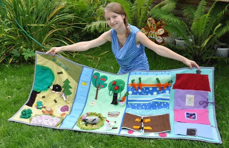 Выкройка развивающий коврик для детей своими руками 32