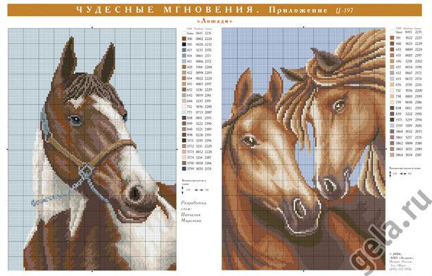 Лошади для вышивки