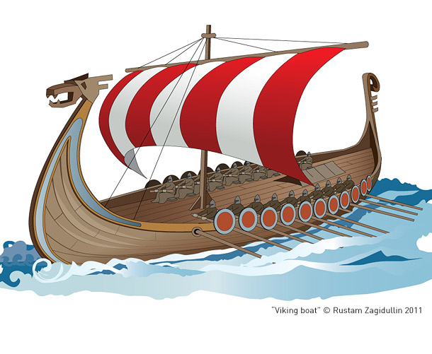 ладья лодка рисунок