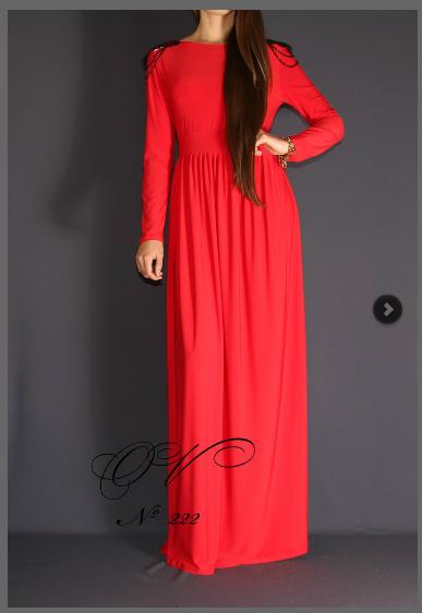 закрытые платья в пол с длинным рукавом